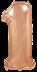 Цифры большие 100 см розовое золото