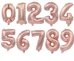 Цифры 80 см. розовое золото
