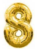 Цифра 8 большая 100см золотая FLEXMETAL