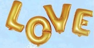 Слово Love(золото, 40 см.) 4 буквы