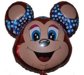 Шарик мишка с бантиком (красный) FLEXMETAL