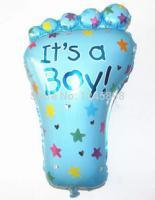 Шарик нога It's a Boy(синяя)