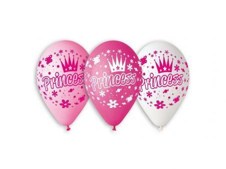 """Шарики Princess (розовый, белый) 12""""(30см)"""
