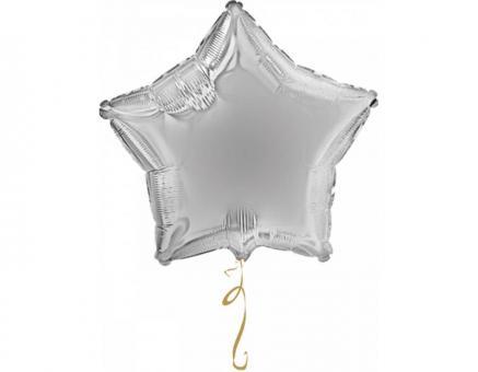 Звезда 18 дюймов (45х45см) серебро Китай №2