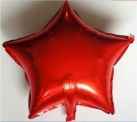 Звезда 18 дюймов (45х45см) красная №2 Китай