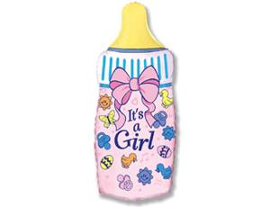 Бутылочка FLEXMETAL 67см (розовая)