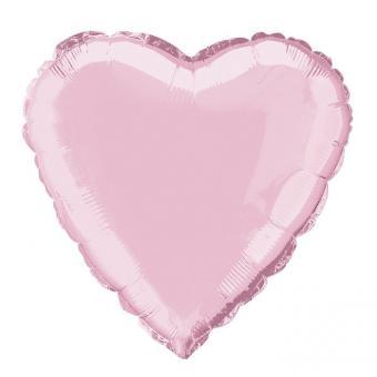 Сердце 18 дюймов(45х45см) светло розовое Китай