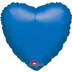 Сердце 18 дюймов(45х45см) синее Китай