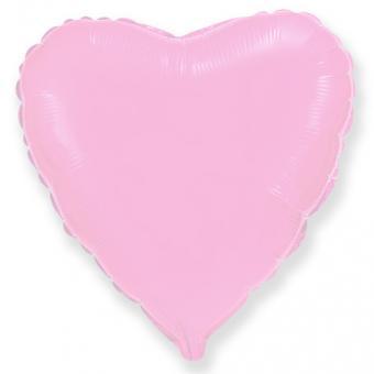 Сердце 18 дюймов(45х45см) светло розовое FLEXMETAL