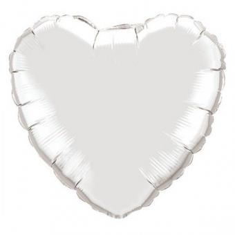 Сердце 18 дюймов(45х45см) белое Китай