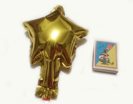 Звезда(мини) 4 дюйма(13*13см) золото  Китай