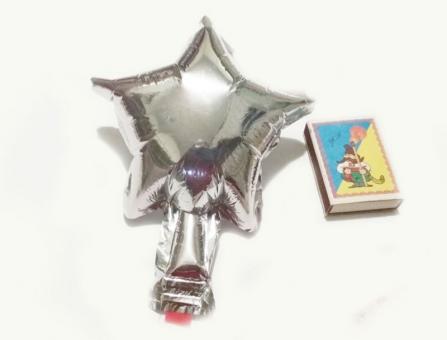 Звезда(мини) 4 дюйма(13*13см) серебро Китай