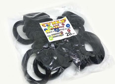 №1137 Резинка черная 20-ка, диам. 5см