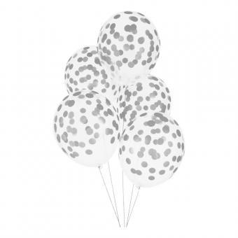 Конфети в шарики круг серебро 23мм(100грамм)