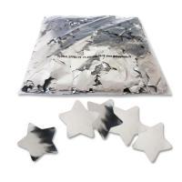 Конфети в шарики звезочки серебро 4х4см(100грамм)