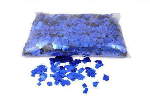 Конфети в шарики квадратики синие 6х6мм(100грамм)