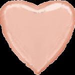 Сердце 18 дюймов(45х45см) Розовое Золото FLEXMETAL