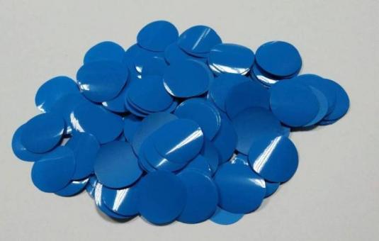 Конфети в шарики круг синий 23мм(100грамм)
