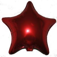 Звезда 20 дюймов (50х50см) красная Китай