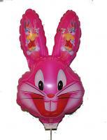Шарик заяц розовый КИТАЙ большой голова