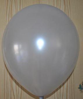 """Шары в пачках Китай 12""""(32см) серебро(серый) 100шт."""