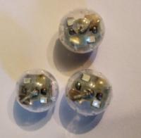 Светодиод круг средний мигает разными цветами для шариков 2,2х2,2см