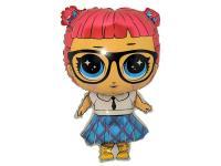 Фольга фигура лол кукла в синем платье 75х48см
