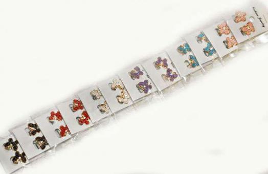 №1214 Сережки гвоздики бабочки