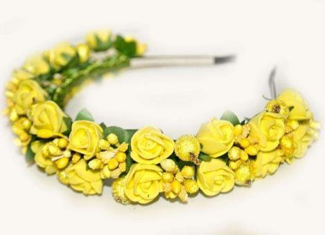 №1245 обруч с цветами