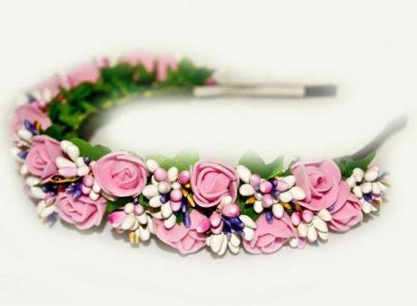 №1383 Обруч с цветами