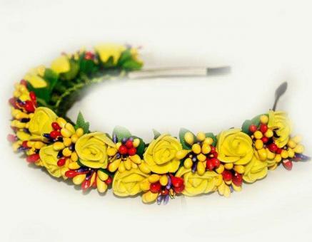 №1384 Обруч с цветами