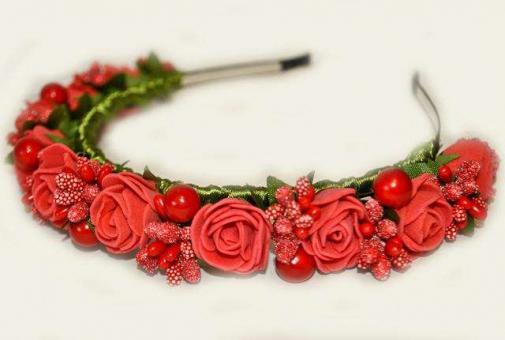 №1404 Обруч с цветами