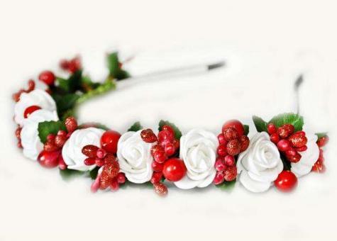 №1500 Обруч с цветами
