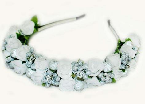 №16 Обруч с цветами