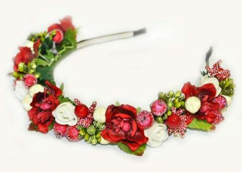 №1690 Обруч с цветами