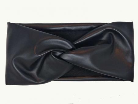 №1853 Повязка для волос экокожа на флисе, шир.12см