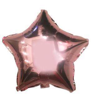 Звезда(мини) 9 дюймов(24*25 см) розовое золото Китай
