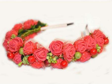 №220 Обруч с цветами