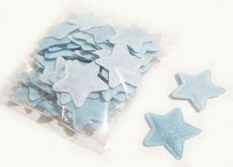 №232 кабошон звезда маленькая голубая