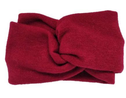 №2680 Повязка ангоровая двойная красная, шир.14см