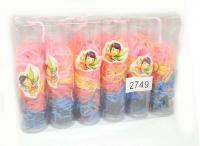 №27495 Резинки силиконовые цветные 12колб