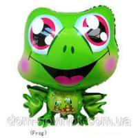 Шарик фольгированный жаба 50х40см.
