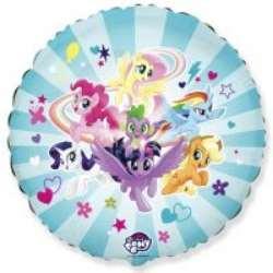 """Шарик фольгированный FLEXMETAL  круг пони """"My Little Pony"""" 18""""  401587"""