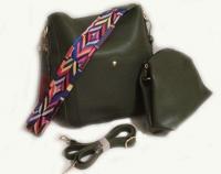 №4073 Набор сумок темно-зеленый