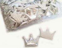 №42033 кабошон корона серебро 10шт