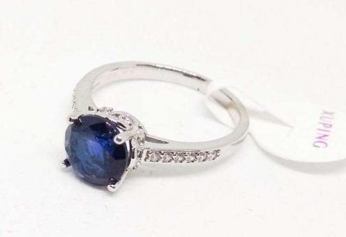 №5397 Кольцо Xuping серебро синий-кам. р.16-19
