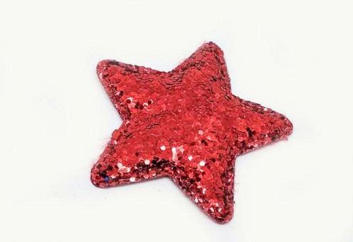 №56811 Звезда глиттерная красная 10шт