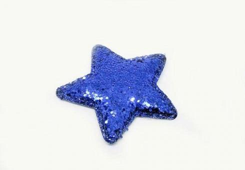 №56816 Звезда глиттерная синяя 10шт