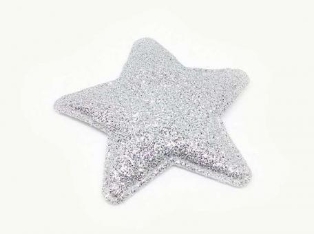 №56832 Звезда большая серебро 10шт