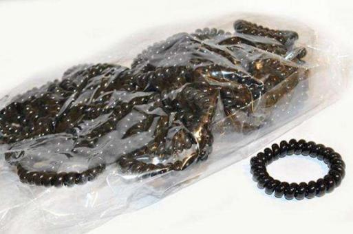 №5772 Резинки-пружинки черные 50шт